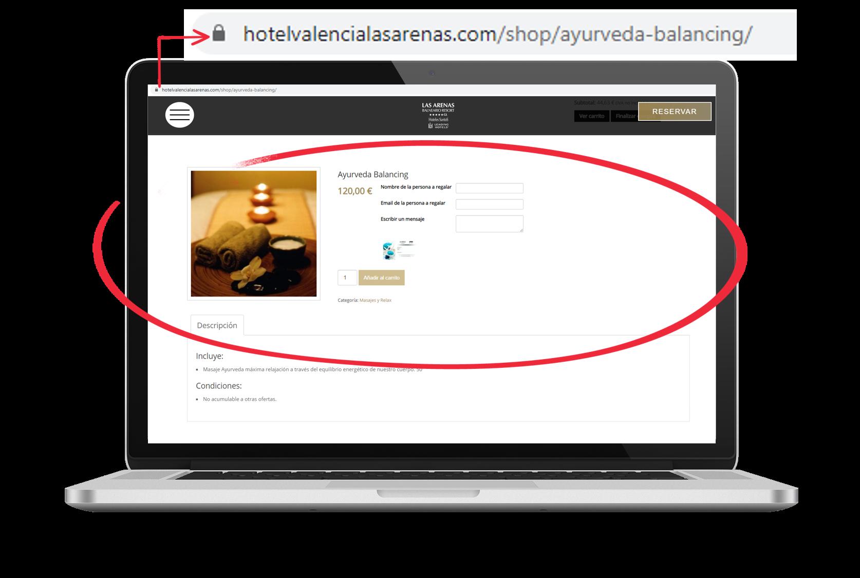 URL por producto - Tienda Online Mirai