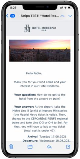 automatizacion email Mirai