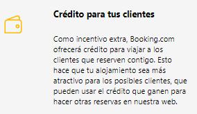 credito para clientes Booking.com Mirai