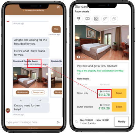 automation mirai chatbot integrated booking engine
