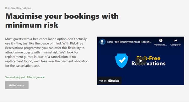 Maximise bookings minimun risk Booking Mirai
