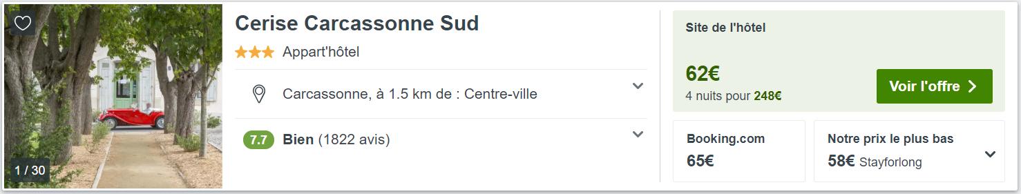 recherchez trivago cerise carcassonne Mirai