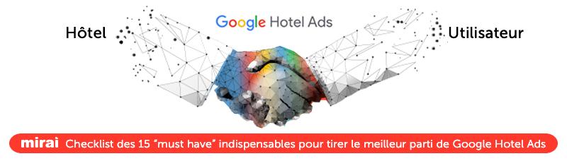 Checklist 15 must have indispensables pour tirer meilleur parti de Google Hotel Ads mirai