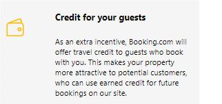 Credi guests Booking.com selon Mirai