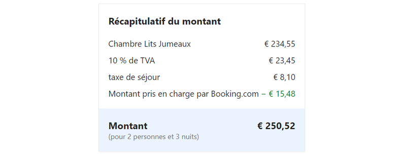 Discount Booking selon Mirai