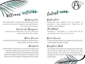 Novedades Hotel Alicante Golf oct2020