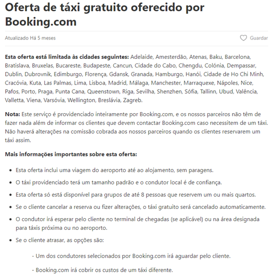 taxi oferecido Booking Mirai