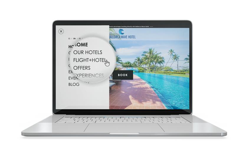 header voo + hotel Mirai Onlinetravel