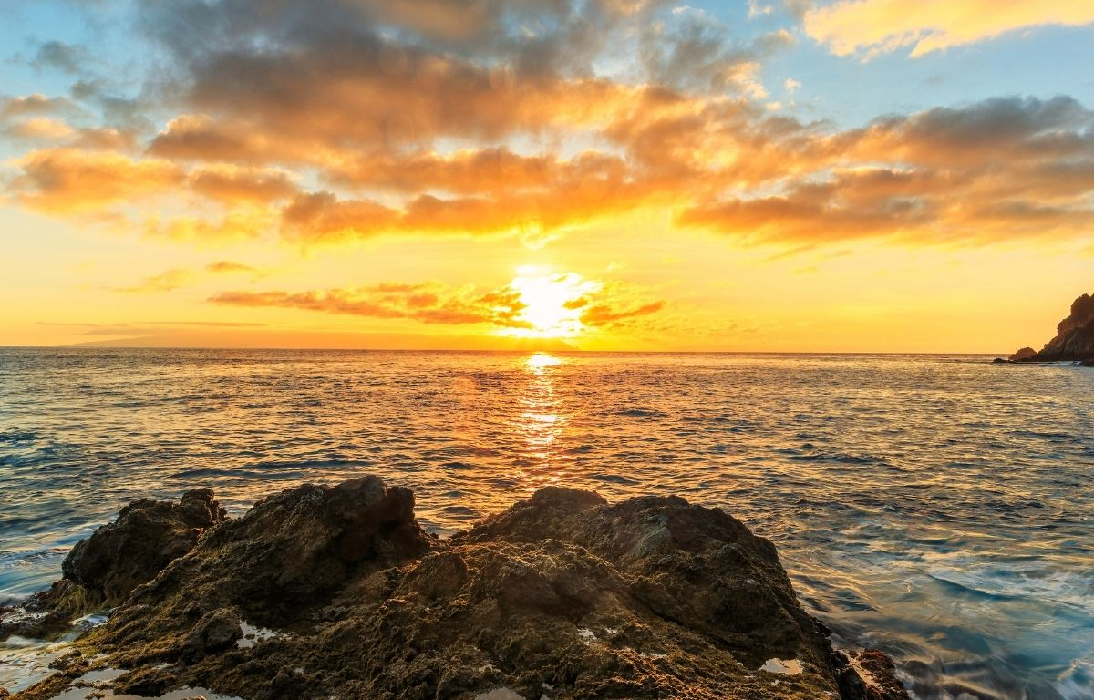 coucher de soleil de Playa de la Arena